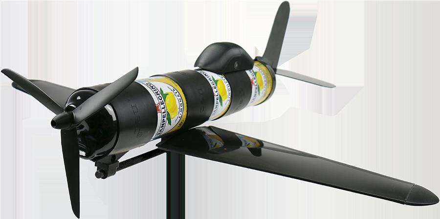 Avion Airpack Canlook à partir de canettes usagées