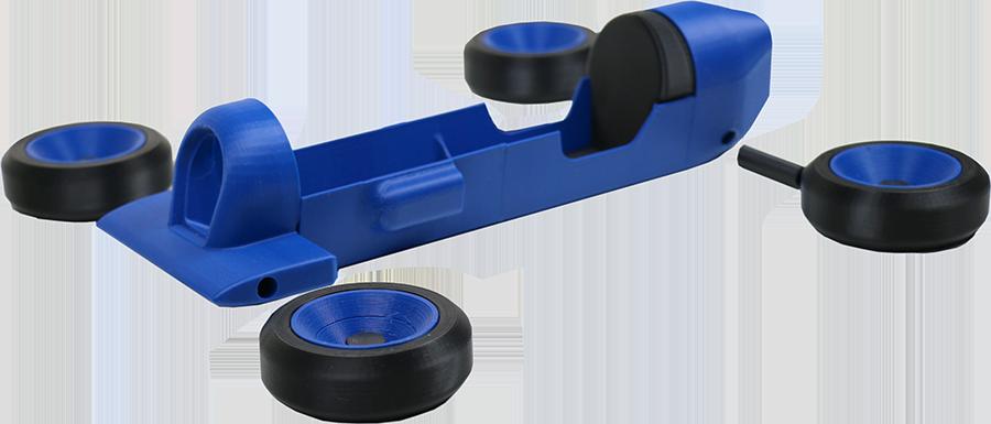 Pièces imprimées de la Canlook car en bleu