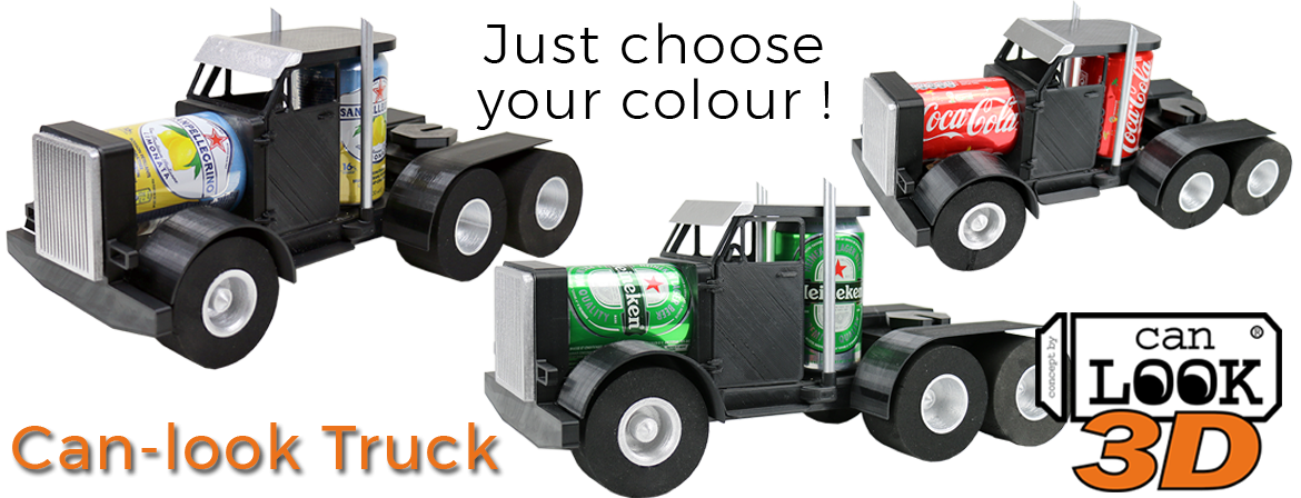 3d printing files for the Can-look truck